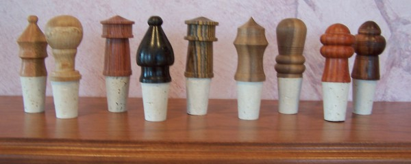 Various Wood Wine stoppers