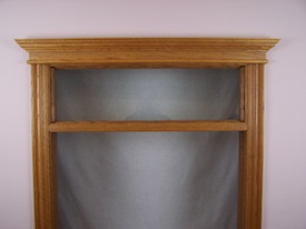Direct set transom with clear glass