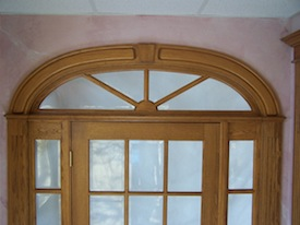 Arched top transom