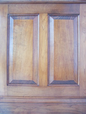 Wainscot with rail