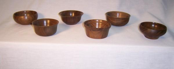 Bowls in dark walnut