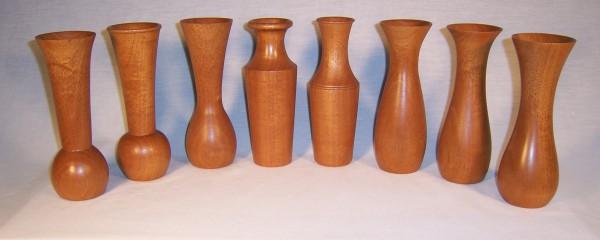 Vases in mahogany