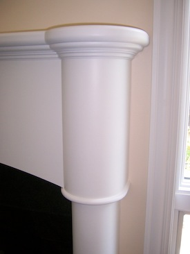 Contemporary painted mantel