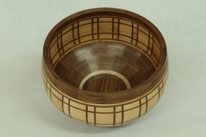 Segmented turned bowl interior